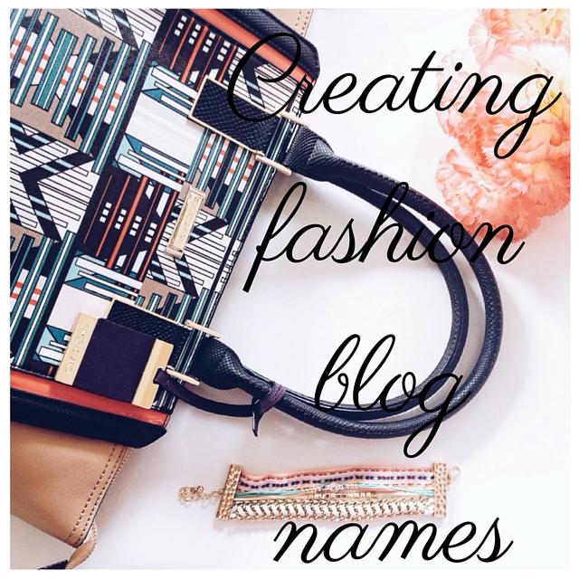 Creating Fashion Blog Names Modish M Moire